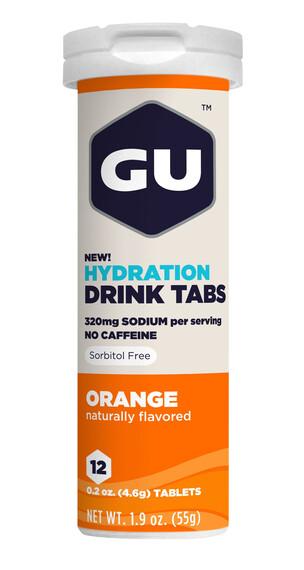 GU Energy Brew Hydration Alimentazione sportiva Arancia 12 pezzi arancione/bianco